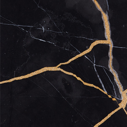 Kintsugi Nero Marqunia Tiles | Dalles en pierre naturelle | Claybrook Interiors Ltd.
