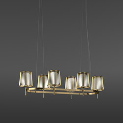 Julia Oval | Suspended lights | Quasar