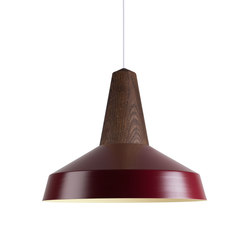 Eikon Circus Smoked Oak Burgundy | Suspended lights | SCHNEID
