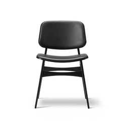Søborg Wood Base - seat and back upholstered | Visitors chairs / Side chairs | Fredericia Furniture