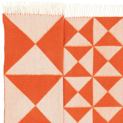 Mirror Throw | Orange | Formatteppiche | Verpan