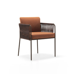Nido Hand-woven dining armchair | Chairs | Expormim