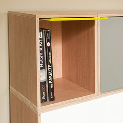 BrickBox Oak Small | Office shelving systems | BrickBox