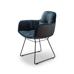 Leya | Armchair High with wire frame | Sedie | FREIFRAU MANUFAKTUR