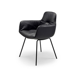 Leya | Armchair High with steel frame | Sillas | Freifrau Sitzmöbelmanufaktur