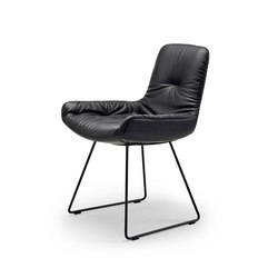 Leya | Armchair Low with skid frame | Sillas | Freifrau Sitzmöbelmanufaktur
