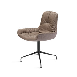 Leya | Armchair Low with trestle leg | Sillas | FREIFRAU MANUFAKTUR