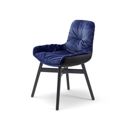 Leya | Armchair Low with wooden frame with cross | Sedie | FREIFRAU MANUFAKTUR
