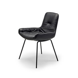 Leya | Armchair Low with steel frame | Chairs | Freifrau Sitzmöbelmanufaktur