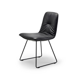 Leya | Chair with skid frame | Sedie | FREIFRAU MANUFAKTUR