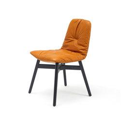 Leya   Chair with wooden frame with cross   Sillas   Freifrau Sitzmöbelmanufaktur