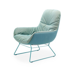 Leya | Lounge Chair with wire frame | Poltrone | FREIFRAU MANUFAKTUR