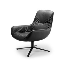 Leya | Lounge Chair with x-base frame | Poltrone lounge | Freifrau Sitzmöbelmanufaktur