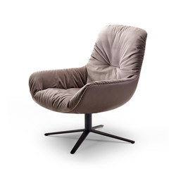 Leya | Lounge Chair with x-base frame | Sillones lounge | Freifrau Sitzmöbelmanufaktur