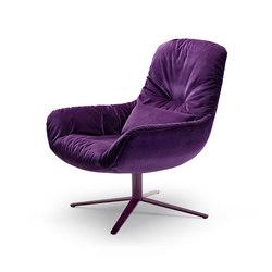 Leya | Lounge Chair with x-base frame | Sillones | FREIFRAU MANUFAKTUR