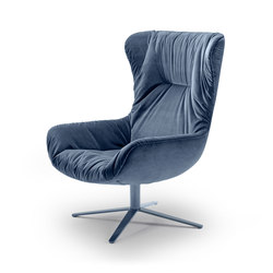 Leya | Wingback Chair with x-base frame | Sillones | Freifrau Sitzmöbelmanufaktur