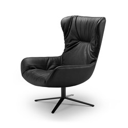 Leya | Wingback Chair with x-base frame | Poltrone | Freifrau Sitzmöbelmanufaktur