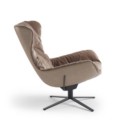 Leya | Wingback Chair with x-base frame with rocker / tilting mechanism | Sillones | Freifrau Sitzmöbelmanufaktur