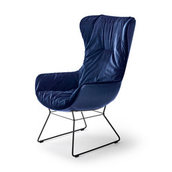 Leya |  Wingback Chair with wire frame | Sillones | FREIFRAU MANUFAKTUR