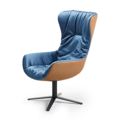 Leya | Wingback Chair with x-base-frame | Poltrone | FREIFRAU MANUFAKTUR