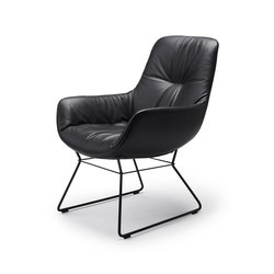 Leya | Cocktail Lounge Chair with wire frame | Armchairs | FREIFRAU MANUFAKTUR