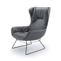 Leya | Wingback Chair with wire frame | Fauteuils | FREIFRAU MANUFAKTUR