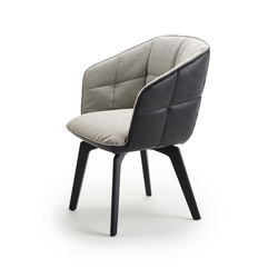 Marla | Armchair High with wooden frame | Sillas | Freifrau Sitzmöbelmanufaktur