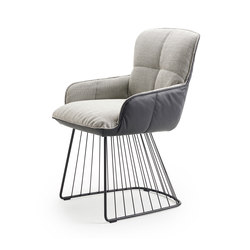 Marla | Armchair Low with harp frame | Chaises | Freifrau Sitzmöbelmanufaktur