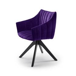 Rubie | Armchair High mit Holzstativgestell | Stühle | Freifrau Sitzmöbelmanufaktur