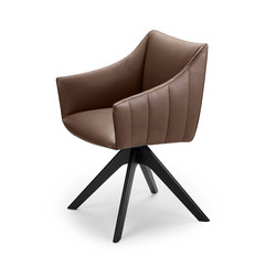 Rubie | Armchair High with wooden support frame | Sillas | Freifrau Sitzmöbelmanufaktur