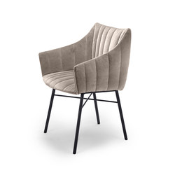 Rubie | Armchair High with steel frame 4-legs | Chairs | FREIFRAU MANUFAKTUR