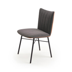 Rubie | Chair with steel frame 4-legs | Chaises | FREIFRAU MANUFAKTUR