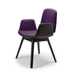 Tilda | Armchair with wooden frame 4-legs | Chairs | Freifrau Sitzmöbelmanufaktur