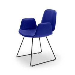 Tilda | Armchair with skid frame | Chairs | Freifrau Sitzmöbelmanufaktur