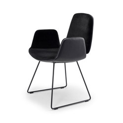 Tilda | Armchair with skid frame | Chairs | Freifrau Sitzmöbelmanufaktur