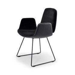 Tilda | Armchair with skid frame | Sedie | Freifrau Sitzmöbelmanufaktur