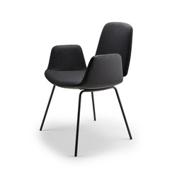 Tilda | Armchair with steel frame 4-legs | Chairs | Freifrau Sitzmöbelmanufaktur