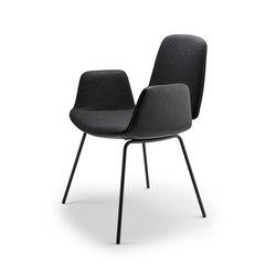 Tilda | Armchair mit Stahlgestell 4-Fuß | Chairs | Freifrau Sitzmöbelmanufaktur