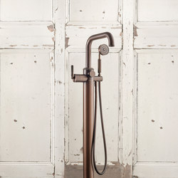 LMK Industrial Floor Mounted Tub/Shower Mixer - City Bronze | Grifería para duchas | Samuel Heath