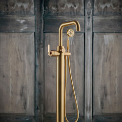 LMK Pure Floor Mounted Tub/Shower Mixer - Urban Brass | Shower controls | Samuel Heath