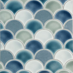 Small Fan Pattern A | Ceramic mosaics | Pratt & Larson Ceramics