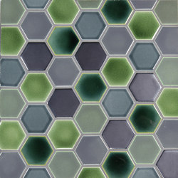 "2"" Hexagon | Keramik Mosaike | Pratt & Larson Ceramics"