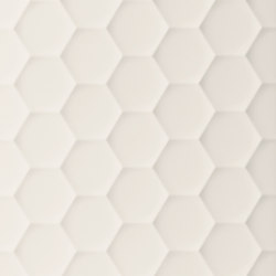 4D | Hexagon White Matt | Ceramic tiles | Marca Corona