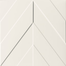 4D | Chevron White Matt | Ceramic tiles | Marca Corona