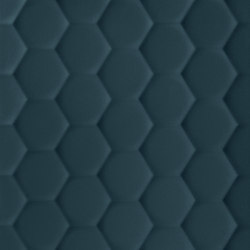 4D | Hexagon Deep Blu Matt | Ceramic tiles | Marca Corona