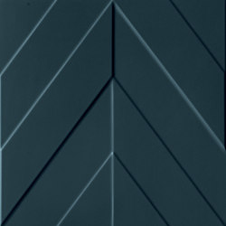4D | Chevron Deep Blu Matt | Ceramic tiles | Marca Corona