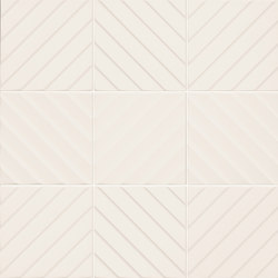 4D | Chevron White 20 | Ceramic tiles | Marca Corona