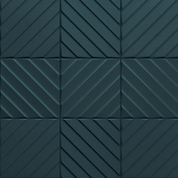 4D | Chevron Deep Blu 20 | Ceramic tiles | Marca Corona