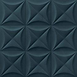 4D | Flower Deep Blue 20 | Ceramic tiles | Marca Corona