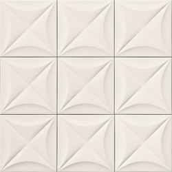 4D | Flower White 20 | Ceramic tiles | Marca Corona